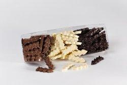 Piece of white, milk or dark chocolate