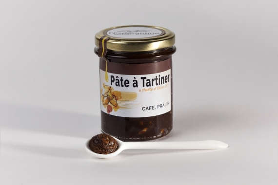 Praline-coffee spread with olive oil 12.3%